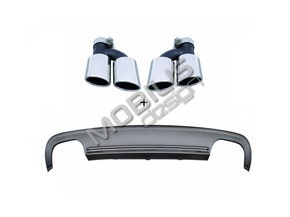 Диффузор + насадки S5 для AUDI A5 8T Sportback 2007-2011