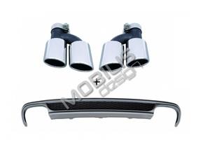 Диффузор + насадки S-Line для AUDI A4 B8 2007-2011