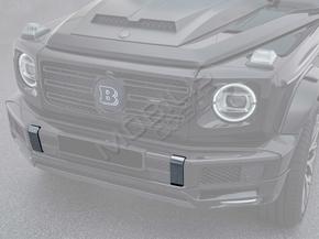 Карбоновые клыки вставки в передний бампер Mercedes-Benz G-Class W463 W463A W464 2018+